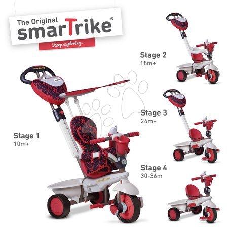 Trojkolky smarTrike - Trojkolka Dream Team Red Touch Steering 4v1 smarTrike červeno-šedá od 10 mes_1