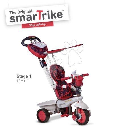 Trojkolky smarTrike - Trojkolka Dream Team Red Touch Steering 4v1 smarTrike červeno-šedá od 10 mes