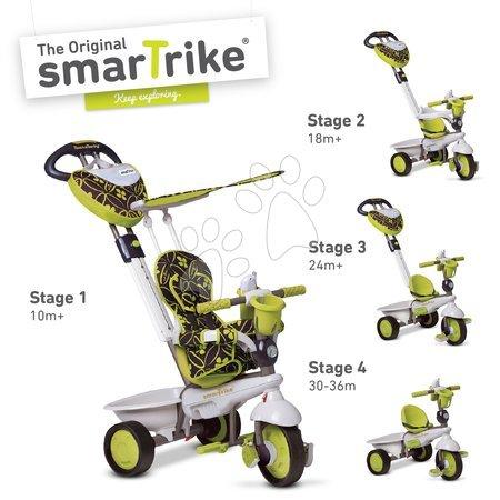 Detská trojkolka Dream Team Green Touch Steering 4v1 smarTrike od 10 mesiacov zeleno-šedá