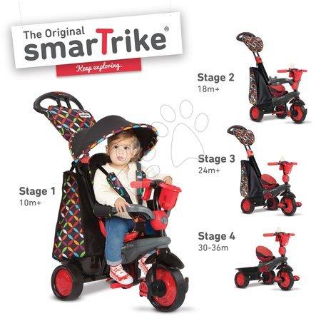 Trojkolka Boutique Red Touch Steering 4v1 smarTrike od 10 mesiacov červeno-čierna