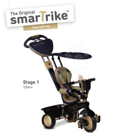 Trojkolka Dream Team Gold Touch Steering 4v1 smarTrike od 10 mesiacov zlato-čierna