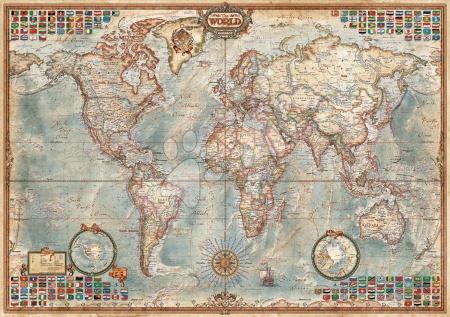 1500 darabos puzzle - Puzzle Politikai világtérkép Educa 1 500 db_1