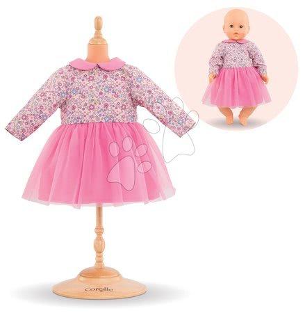 Oblečení pro panenky - Oblečení Dress Long Sleeves Pink Mon Grand Poupon Corolle pro 42 cm panenku od 24 měs