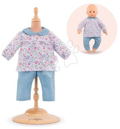 Oblečení pro panenky - Oblečení Blouse Flower & Pants Mon Grand Poupon Corolle pro 42 cm panenku od 24 měs