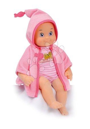 Panenky od 9 měsíců - Panenka se zvuky MiniKiss Smoby na koupání 27 cm růžová od 12 měsíců