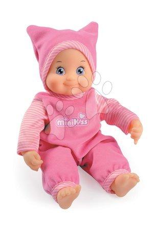 Panenky od 9 měsíců - Dívčí panenka se zvukem MiniKiss Smoby 27 cm růžová od 12 měsíců