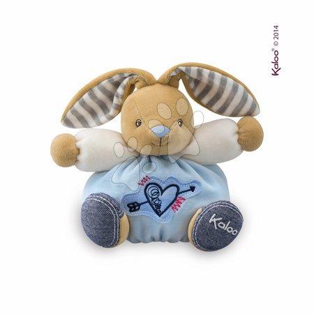 Plyšový zajačik Blue Denim - Sweet Heart Kaloo 18 cm v darčekovom balení pre najmenších modrý