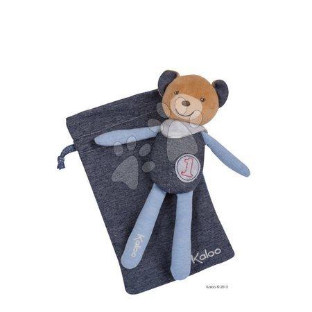 Bábiky pre dievčatá - Plyšový medvedík postavička na maznanie Blue Denim-Doudou Kaloo 20 cm pre najmenších