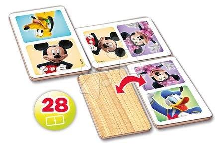 Domino a Lotto - Drevené domino Mickey Mouse a priatelia Educa 28 ks_1