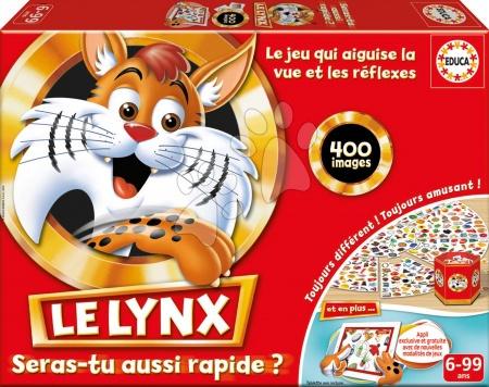 Spoločenské hry - Rodinná spoločenská hra Le Lynx Educa 400 obrázkov vo francúzštine od 6 rokov