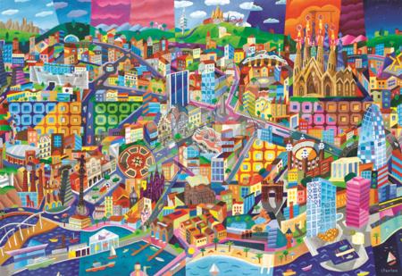 1500 darabos puzzle - Puzzle Barcelona, Philip Stanton Educa 1 500 db_1