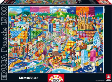 Puzzle Barcelona, Philip Stanton Educa 1500 dielov