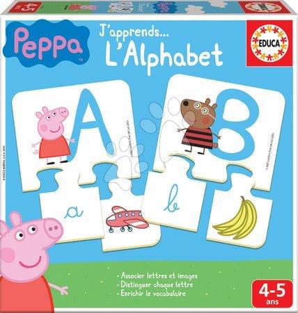 Spoločenské hry - Náučná hra Učíme sa ABC Peppa Pig Educa s obrázkami a písmenami 78 dielov od 4-5 rokov