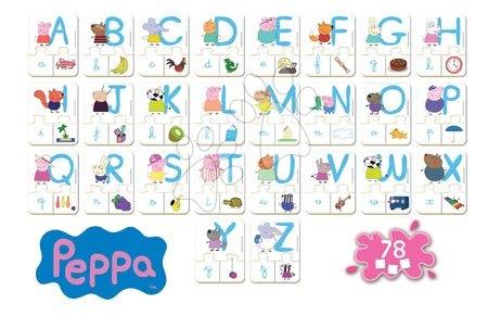 Spoločenské hry - Náučná hra Učíme sa ABC Peppa Pig Educa s obrázkami a písmenami 78 dielov od 4-5 rokov_1