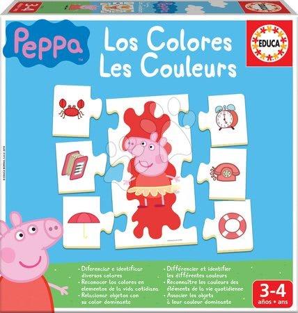 Náučná hra Učíme sa Farby Peppa Pig Educa s obrázkami a farbami 42 dielov