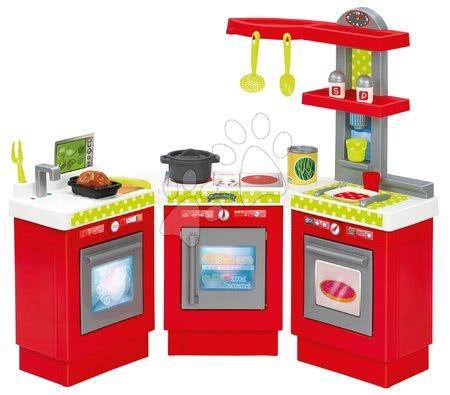 Kuchynka 3 Modules 100% Chef Ecoiffier trojdielna s 21 doplnkami od 18 mes ECO1623
