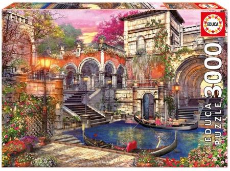 Igračke za sve od 10 godina - Puzzle Genuine Venice Courtship Educa 3000 dijelova od 15 godina