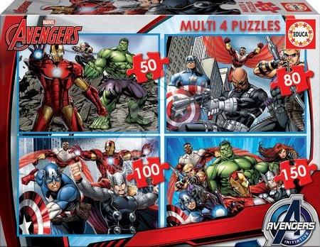 Avengers Assemble - EDUCA 16331 puzzle 4 multi Avengers 50-80-100-150 dielikove