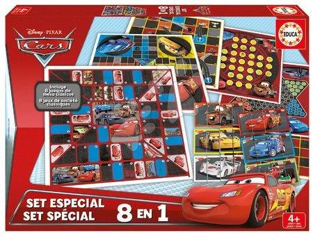 Spoločenské hry Cars 8v1 Special set Educa po anglicky od 4 rokov