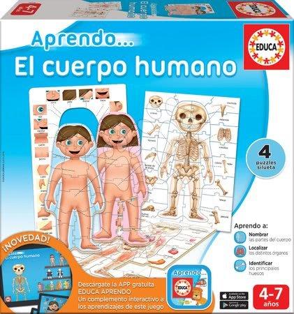 Spoločenské hry - Náučné hry Učíme sa Naše telo Educa 4 puzzle po španielsky od 4-7 rokov