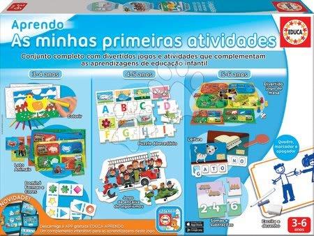 Puzzle pentru copii  - Jocuri educative pentru cei mici Aprendo Primele Activități Educa 8 jocuri diferite de la 3-6 ani