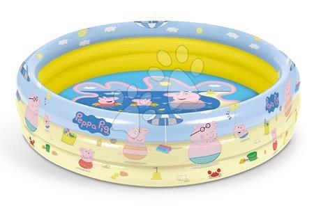 Piscine pentru copii - Piscină gonflabilă Peppa Pig Mondo cu 3 compartimente și diametru de 100 cm de la 10 luni