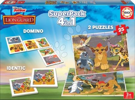 Puzzle Superpack Oroszlánkirály Disney 4in1 Educa puzzle, dominó és párosító játék