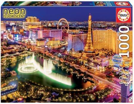 1000 darabos puzzle - Puzzle Neon Series, Neon Las Vegas Educa 1000 db 12 évtől