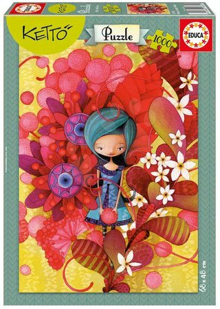 Puzzle Blue Lady, Ketto Educa 1000 dielov od 12 rokov