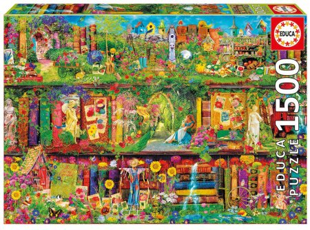 Puzzle Genuine Vrtna knjižnica Educa 1500 delov
