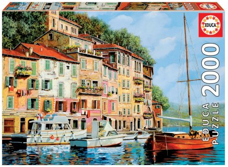 Puzzle Genuine La Barca rossa alla Calata, Guido Borelli Educa 2000 delov