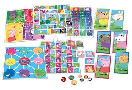 Spoločenské hry - Spoločenské hry Peppa Pig 8v1 Special set Educa po anglicky od 4 rokov_1
