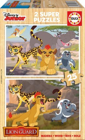 Dřevěné puzzle Lví Král Educa 2x25 dílů