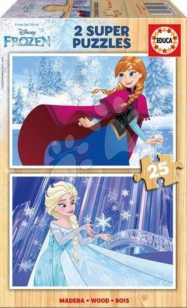 Drevené puzzle Frozen Educa 2x25 dielov