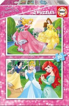 Princese - Dječje puzzle Disney Princeze Educa 2x20 dijelova