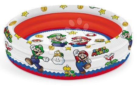 Piscine pentru copii - Piscină gonflabil cu trei camere Super Mario Mondo diametru de 100 cm de la 10 luni