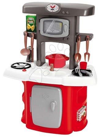 Obyčejné kuchyňky - Kuchyňka s mikrovlnkou Loft Écoiffier s chladničkou a 14 doplňků od 18 měsíců