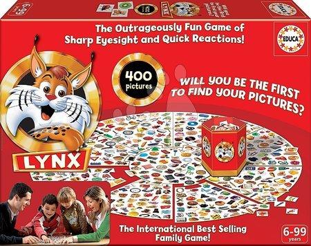 Spoločenské hry - Rodinná spoločenská hra Lynx Educa 400 obrázkov v angličtine od 6 rokov