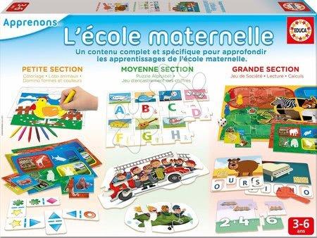 Puzzle pentru copii  - Jucărie educativă Kit L'Ecole Maternell Educa puzzle şi joc de asamblat pentru vârsta cuprinsă între 3-6 ani EDU17064
