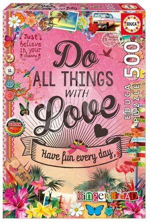 Puzzle Gingerbread Do all the things with Love Educa 500 dielov od 11 rokov