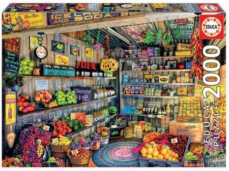 Puzzle - Puzzle Genuine Grocery Shop Educa 2000 de piese de la 11 ani