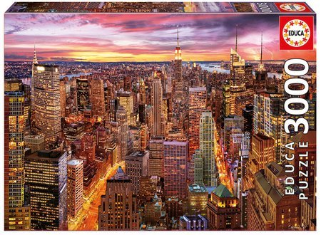 Puzzle Genuine Manhattan Skyline Educa 3000 darabos 11 évtől