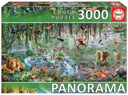 Puzzle Panorama Wildlife Fragment Educa 3000 darabos 11 évtől