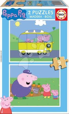 Lesene Disney puzzle - Lesene puzzle Peppa Pig Educa 2*9 delov