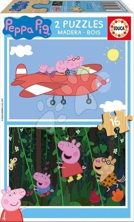 Lesene Disney puzzle - Lesene puzzle Peppa Pig Educa 2*16 delov