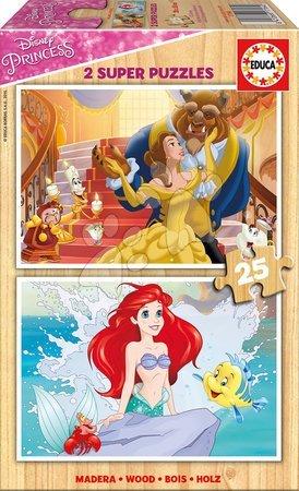 Princese - Drvene puzzle za djecu Disney Princeze Educa 2x25 dijelova od 4 godine