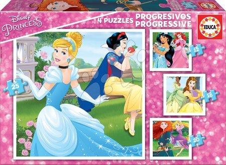 Princese - Dječje puzzle Disney Princeze Educa progresivne 12-16-20-25 dijelova