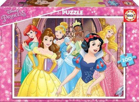 Princese - Dječje puzzle Disney Princeze Educa 100 dijelova od 6 godina