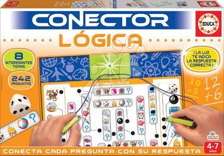 Spoločenské hry - Spoločenská hra Conector Educa Logické myslenie - španielsky 242 otázok od 4-7 rokov