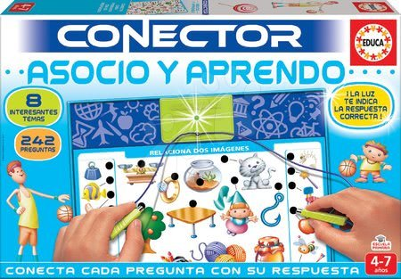 Spoločenské hry - Spoločenská hra Conector Asociácie & Učenie Educa 242 otázok v španielčine od 4-7 rokov